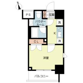 スカイコートルーベンス西早稲田5階Fの間取り画像