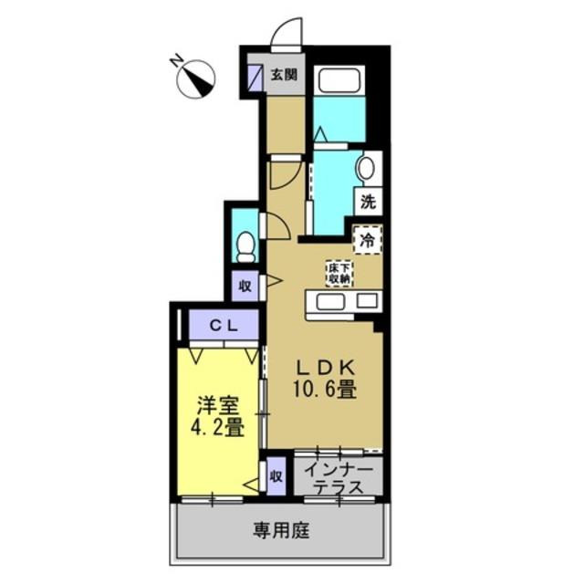 LDK10.6帖 洋室4.2帖