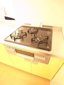 システムキッチンだからお掃除らくらくー