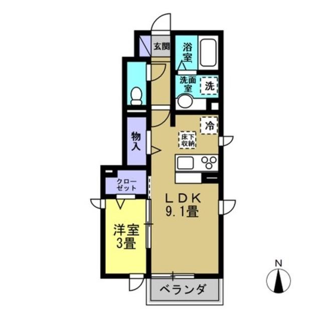 LDK9.1帖、洋室3帖