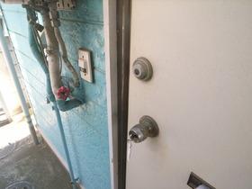 ドアも青い!!!