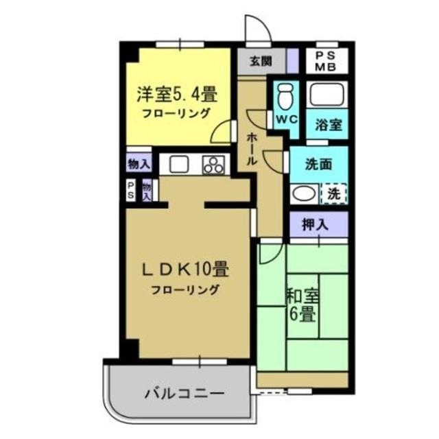 LDK10帖・洋室5.4帖・和室6帖