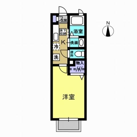 K3.4畳・洋室6.4畳