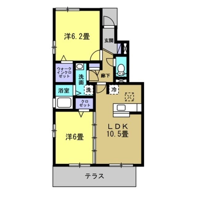 LDK10.5帖・洋室6帖・洋室6.2帖
