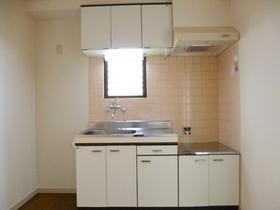 2口コンロ設置可のキッチンです。