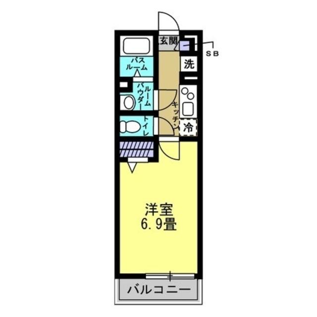 洋室6.9帖