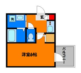 洋室6帖! 角部屋です