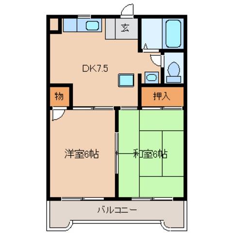 DK7.5 洋室6 和室6