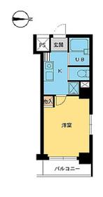 スカイコート新宿御苑前4階Fの間取り画像