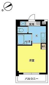 スカイコート新宿新都心第24階Fの間取り画像