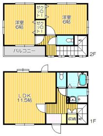 2LDK 59.68平米 4.6万円 愛媛県新居浜市磯浦町