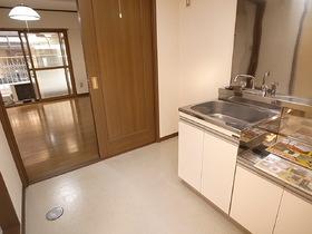 キッチンスペースが広いです。食器棚とかも余裕です!