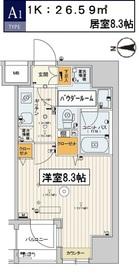 スカイコート江東住吉12階Fの間取り画像