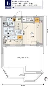 スカイコートパレス両国11階Fの間取り画像