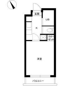 スカイコート早稲田第53階Fの間取り画像