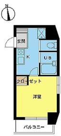 スカイコート高田馬場第57階Fの間取り画像