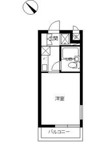 スカイコート鶴見44階Fの間取り画像