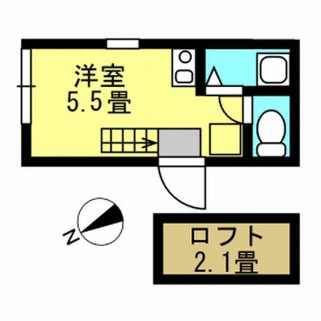 洋室5.5帖 ロフト2.1帖