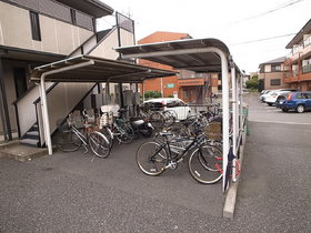 自転車置場!屋根もついてます!
