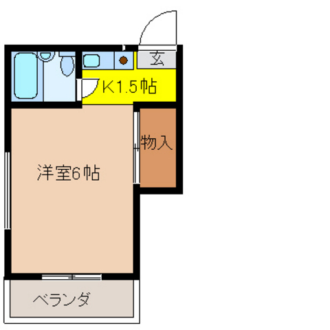 洋室6帖 K1.5帖