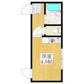 角部屋♪バス・トイレ別のワンルーム☆