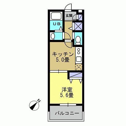 K5帖 洋室5.6帖(反転)