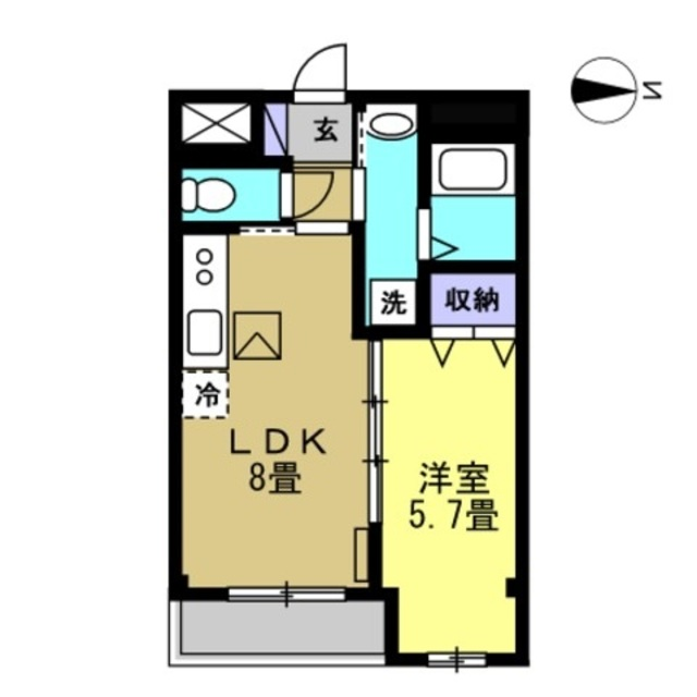 LDK8帖・洋室5.7帖