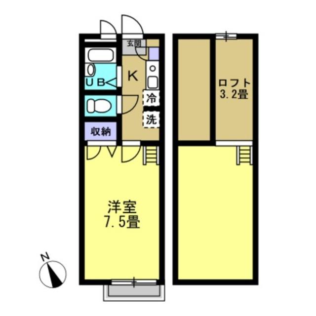 洋室7.5 ロフト3.2