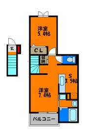 玄関は1階で室内に階段があります☆