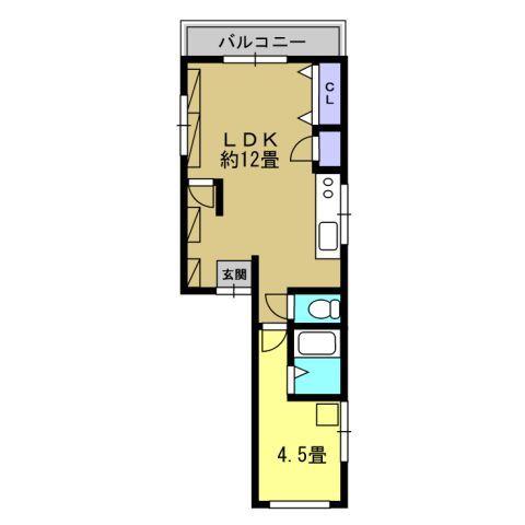 1LDK LDK12 洋4.5