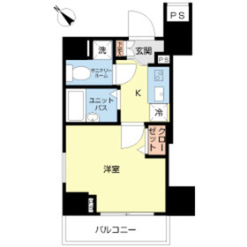 スカイコート田端第39階Fの間取り画像