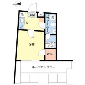 スカイコート牛込神楽坂5階Fの間取り画像