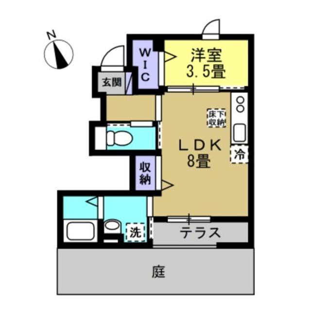 LDK8帖、洋室3.5帖