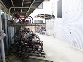 自転車置き場あります!