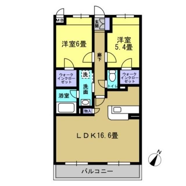 LDK16.6帖・洋室6帖、5.4帖