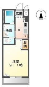 1K 29.75平米 4.7万円 香川県高松市林町