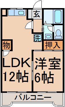 LDK12帖、洋室6帖