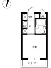 スカイコート横浜大口25階Fの間取り画像