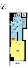 スカイコートヌーベル神田5階Fの間取り画像