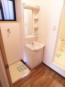 独立洗面台&室内洗濯機置き場
