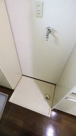 嬉しい室内洗濯機置き場☆