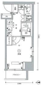 スカイコート武蔵小杉壱番館7階Fの間取り画像