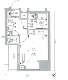 スカイコートパレス西巣鴨Ⅱ4階Fの間取り画像