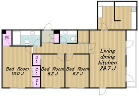 八雲テラスアパートメント2階Fの間取り画像