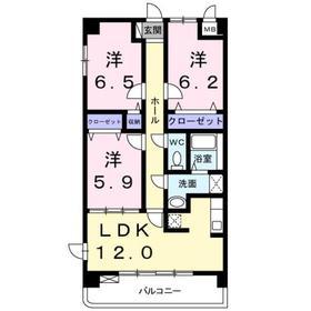 3LDK 73.74平米 9.4万円 香川県高松市木太町
