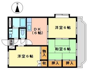 3DK 56.85平米 4.8万円 愛媛県伊予市下吾川