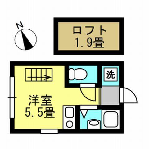 1R 洋5.5 ロフト1.9