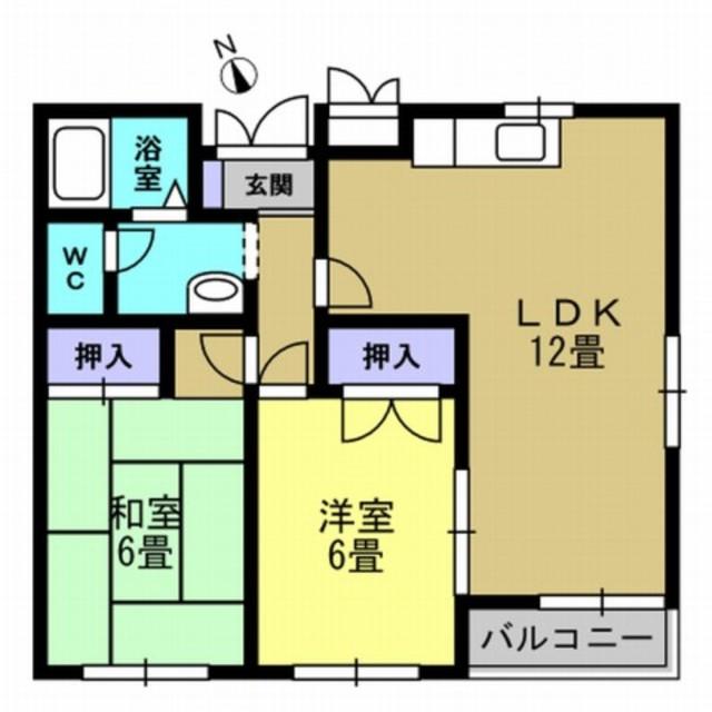 LDK12帖・洋室6帖・和室6帖