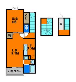 玄関が1階で室内階段で部屋に行けます☆