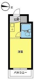 スカイコート下高井戸6階Fの間取り画像